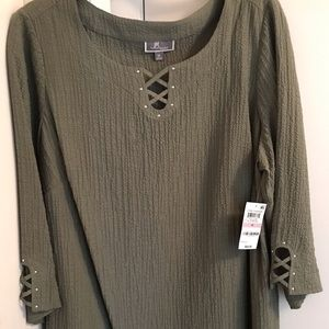 JM Collection Mountain Sage Tunic Top NWT 1X
